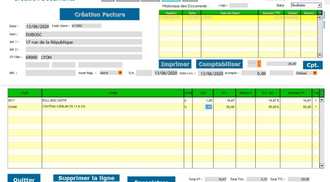 GESCOMIX Devis/Facture/Règlements / PC . Abonnement Annuel