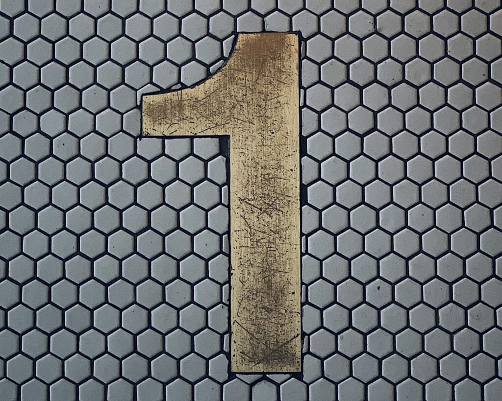 brown number 1 graphic